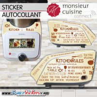 Stickers Autocollants Monsieur Cuisine Connect MCC - Kitchen Vintage