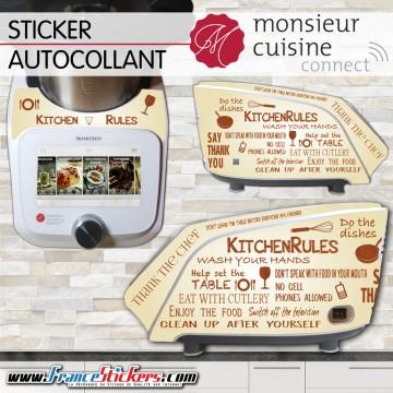 Stickers Autocollants Monsieur Cuisine Connect MCC - Kitchen Vintage