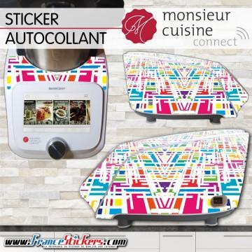 Stickers Autocollants Monsieur Cuisine Connect MCC - Multicolore