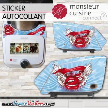 Stickers Autocollants Monsieur Cuisine Connect MCC - Bouche Gourmande Personnalisée