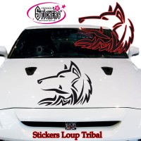 Stickers Autocollant Loup Tribal