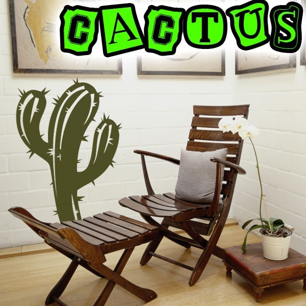 sticker cactus pas cher france stickers. Black Bedroom Furniture Sets. Home Design Ideas