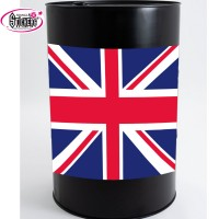 Stickers Autocollant pour Baril ou Bidon drapeau anglais