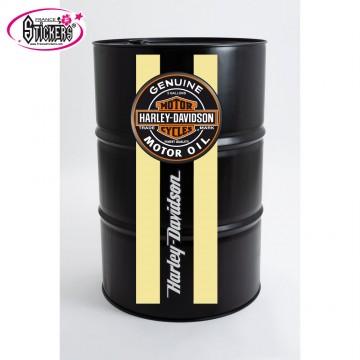 Stickers Autocollant pour Baril ou Bidon Harley Davidson bandes verticales
