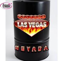 Stickers Autocollant pour Baril ou Bidon Las Vegas