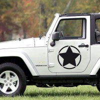 Stickers Autocollant Jeep US Army Etoile