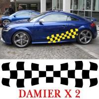 Planche de 2 Stickers Tuning Damier - 1