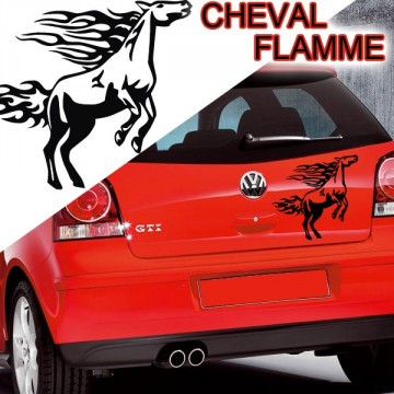stickers Tuning Cheval Flamme stcf2