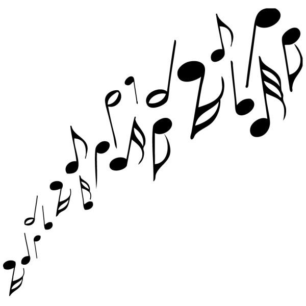 Sticker notation - Sticker Partition De Musique 183 184 184 France Stickers