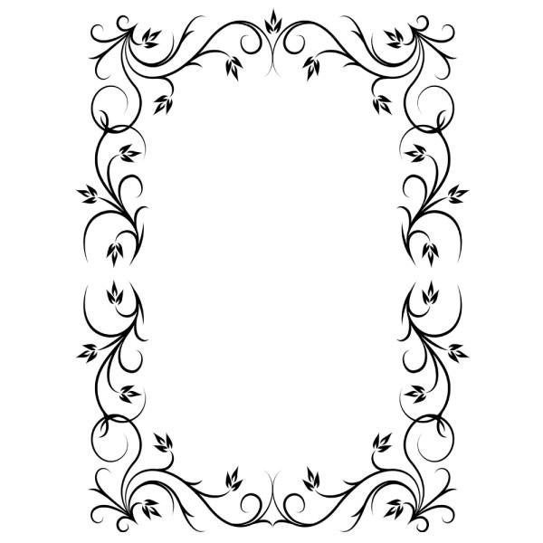 Stickers autocollant cadre baroque pas cher france stickers - Cadre photo dessin ...