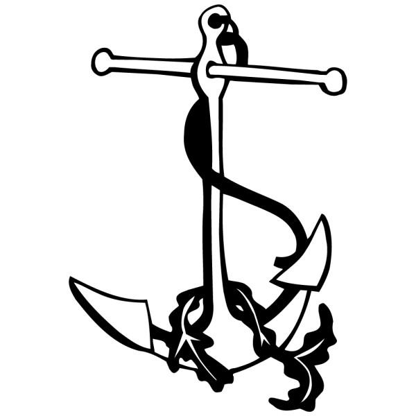 Stickers ancre de bateau pas cher france stickers - Ancre de bateau dessin ...