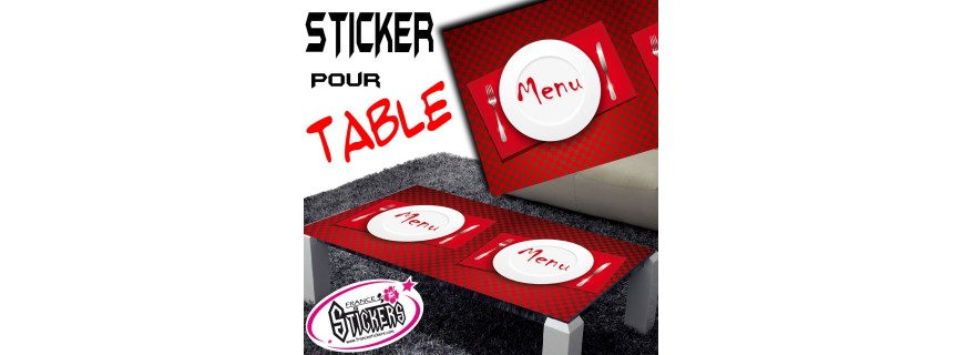 Stickers Pour Table