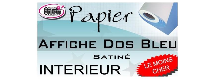 Papier Dos bleu