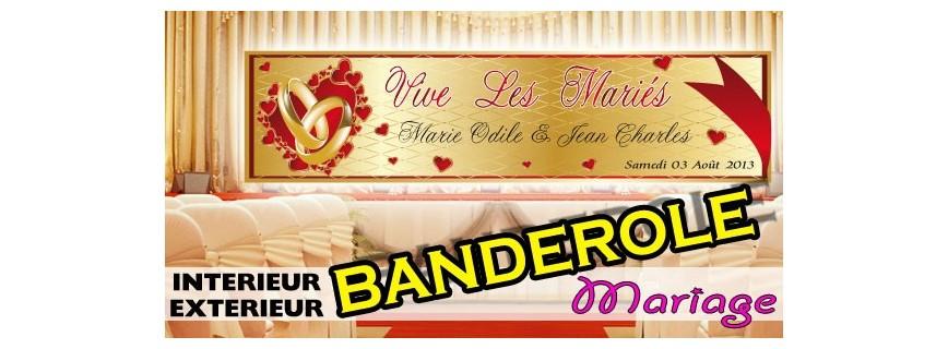 Banderoles Mariage