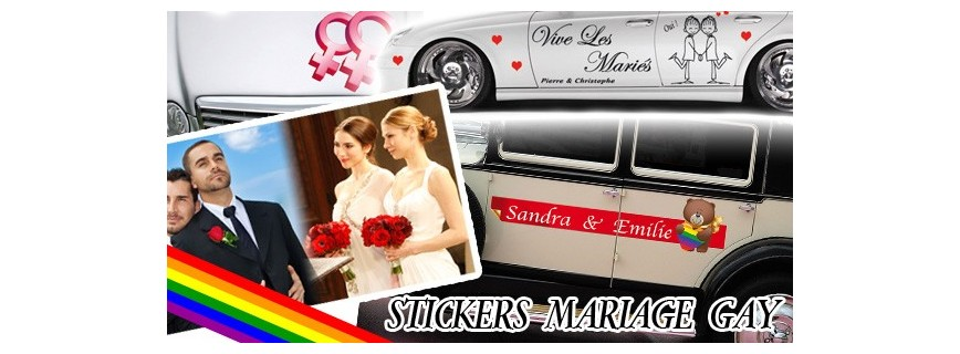 Stickers Mariage Gay