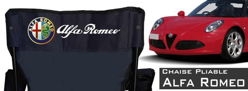 Alfa Roméo - Chaise Pliable Personnalisée