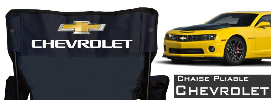 Chevrolet - Chaise Pliable Personnalisée