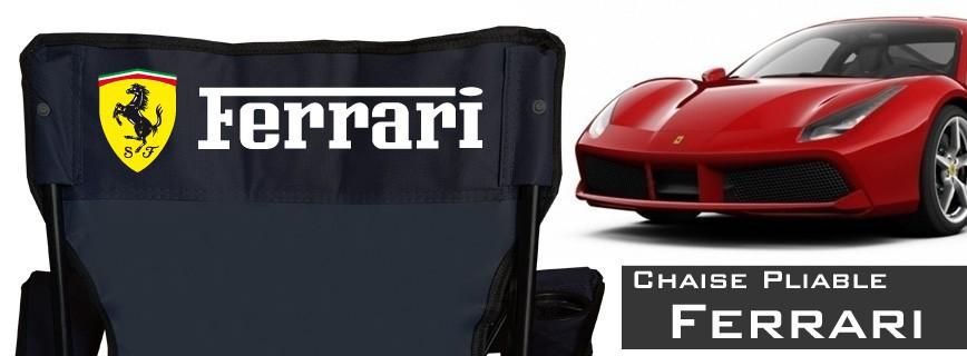 Ferrari - Chaise Pliable Personnalisée