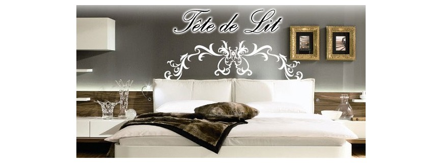 stickers baroque tete de lit stunning sticker mural tete de lit te de lit stickers t te de lit. Black Bedroom Furniture Sets. Home Design Ideas