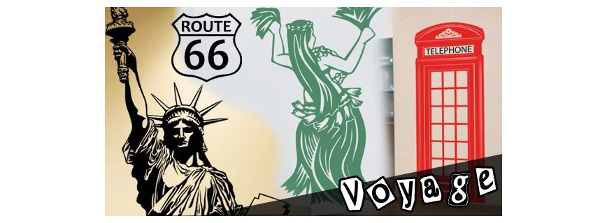 stickers Pays - Voyage